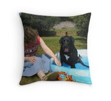 Cooling off! Throw Pillow