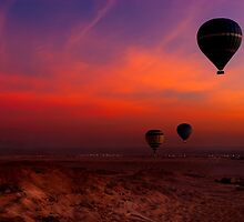 Hot Air Balloons Over The Valley Of The Kings by Mark Tisdale