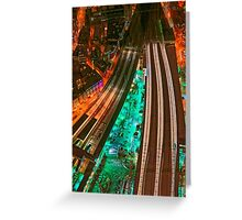 The Railways and The City, London, England Greeting Card