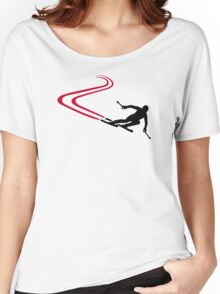 Downhill ski tracks Women's Relaxed Fit T-Shirt