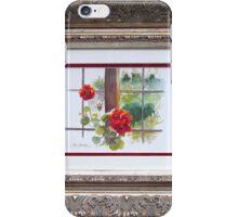 Red Geranium in Window iPhone Case/Skin