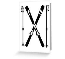 Crossed ski Greeting Card