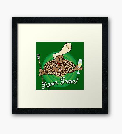 Super Green! Framed Print