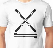 Crossed ski equipment Unisex T-Shirt