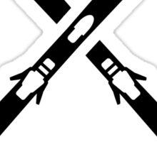 Crossed ski equipment Sticker
