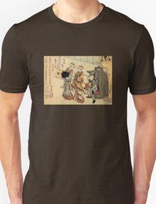 'Lady' by Katsushika Hokusai (Reproduction) Unisex T-Shirt