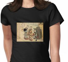 'Lady' by Katsushika Hokusai (Reproduction) Womens Fitted T-Shirt