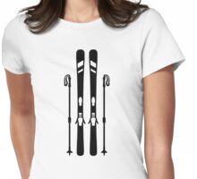 Downhill ski equipment Womens Fitted T-Shirt