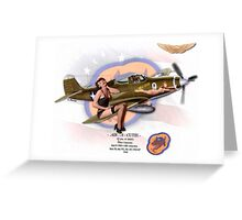 Air-A-Cutie - P-39 Airacobra Greeting Card