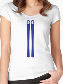 Downhill ski Women's Fitted Scoop T-Shirt