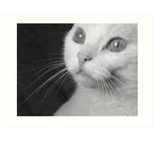 What Big Eyes You Have.... (Mono) Art Print