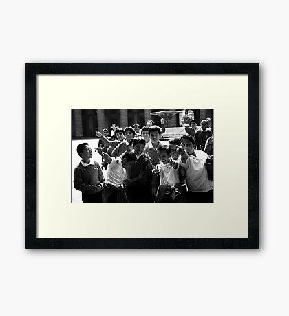 School boys Framed Print