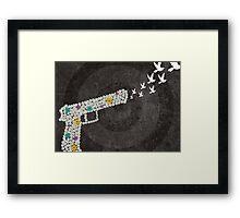TRIGGER PEACE Framed Print