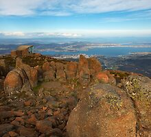 View of Hobart and Mt Wellington, Tasmania by Roger Barnes