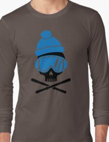 Skiing skull Long Sleeve T-Shirt
