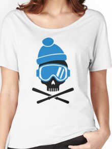Skiing skull Women's Relaxed Fit T-Shirt