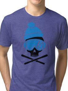 Skiing skull Tri-blend T-Shirt