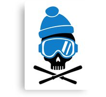 Skiing skull Canvas Print