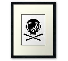 Skull crossed ski Framed Print