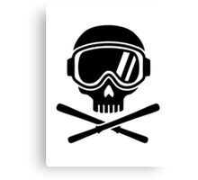 Skull crossed ski Canvas Print