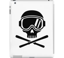 Skull crossed ski iPad Case/Skin
