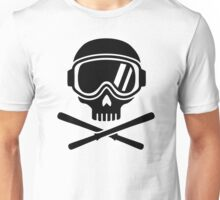 Skull crossed ski Unisex T-Shirt