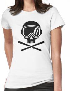 Skull crossed ski Womens Fitted T-Shirt