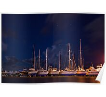 Winter Yachts Poster