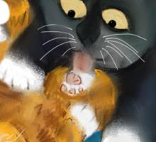 Bath Time for Tiger Kitten Sticker