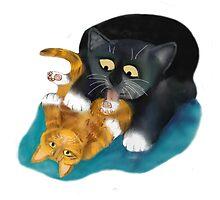 Bath Time for Tiger Kitten by NineLivesStudio