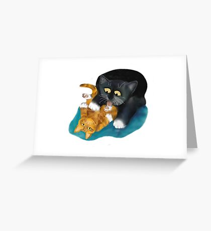 Bath Time for Tiger Kitten Greeting Card