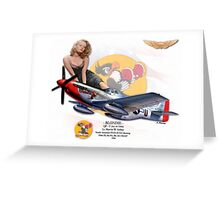 Blondie - P-51D Mustang Greeting Card