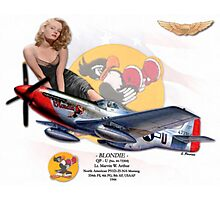 Blondie - P-51D Mustang Photographic Print