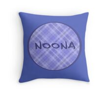 NOONA - BLUE PLAID Throw Pillow