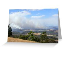 Fires in the Yarra Valley Greeting Card