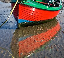 Red Dinghy by Karen Millard