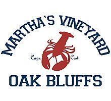 Oak Bluffs - Martha's Vineyard.  Photographic Print