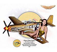 Hurry Home Honey - P-51D Mustang Photographic Print
