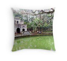 Bao Quoc Pagoda Throw Pillow