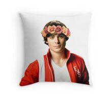 Zac Efron Flower Crown Throw Pillow
