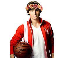 Zac Efron Flower Crown Photographic Print
