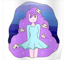 Bee and Puppycat Space Hair Print Poster