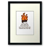 Matthew 7:19 Framed Print
