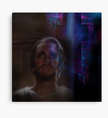 Redeemer jesus christ religious christian cross Canvas Print