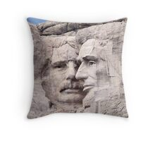 Theodore Roosevelt and Abraham Lincoln, Mount Rushmore National Memorial  Throw Pillow