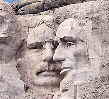 Theodore Roosevelt and Abraham Lincoln, Mount Rushmore National Memorial  by Alex Preiss