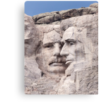 Theodore Roosevelt and Abraham Lincoln, Mount Rushmore National Memorial  Canvas Print