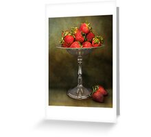 Strawberries On A Pedestal Greeting Card