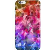 COLOR ME FLORAL 4 Whimsical Abstract Watercolor Painting Ombre Flower Pattern Pink Red Purple Blue Ochre iPhone Case/Skin