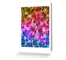 COLOR ME FLORAL 4 Whimsical Abstract Watercolor Painting Ombre Flower Pattern Pink Red Purple Blue Ochre Greeting Card